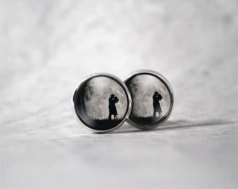 Earrings 12 mm cabochon / lover