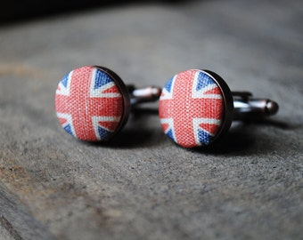 Vintage Union Jack cufflinks - gifts for men