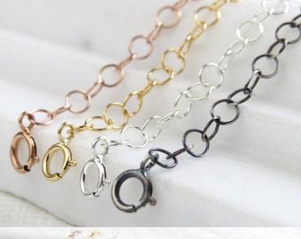 Halskette-Extender • Gelb Gold • Rose Gold • Silber • Schwarz • verlängern Kette • längere Kette • perfekt für Schichtung Halsketten