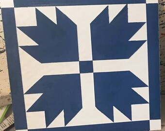 Hand Painted Bear Plaw Barn Quilt