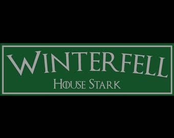 Game of Thrones, Winterfell, House Stark Sign