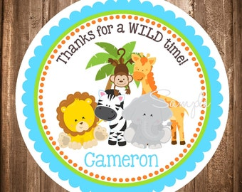 Safari Gift Tags, Printable Safari Hang Tags or Stickers, Digital  Safari Stickers, Jungle , DIY