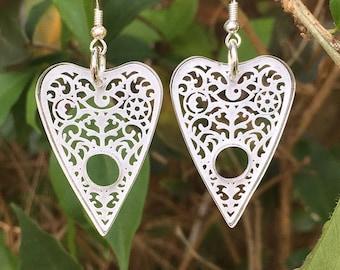 Planchette Stud Earrings - Laser Cut & Engraved - Ouija Board - Gift Ideas - Acrylic Jewellery