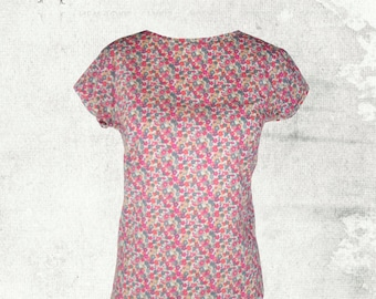 PDF Sewing Pattern: Tara Tee Top Sizes 8 - 18