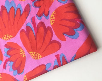 Kaffe Fassett Collective Brandon Mably Lazy Daisy Pink Fabric, BM44, Rare, OOP, HTF
