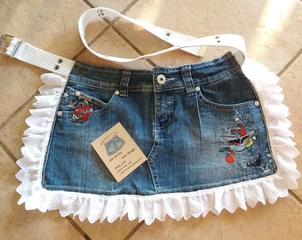 Denim Girls Apron (Repurposed Jeans)