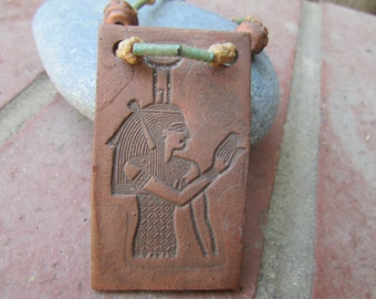 Vintage Egyptian Clay Necklace.