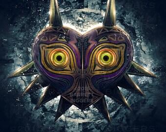 Legend of Zelda Majora's Mask Epic Game Poster - signed museum quality giclée fine art print