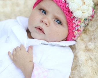 Unique Baby Gift, Baby Girl Gift, Baby Shower Gift, Bubble Gum Pink Hat, Hats for Kids
