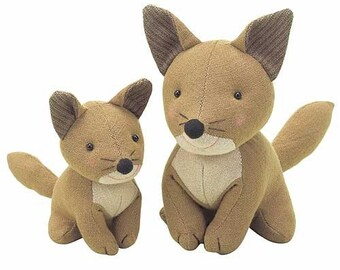 Discontinued Fox Patchwork Doll Family - Japanese craft kit