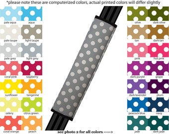 Seat Belt Cover // AUTO PAD // Car Accessories // seat belt pad - Mini Polka Dots- Pick Your Own Color - Custom seatbelt polkadot pattern