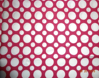 1 Yard Robert Kaufman Spot On in Pink Cotton Fabric
