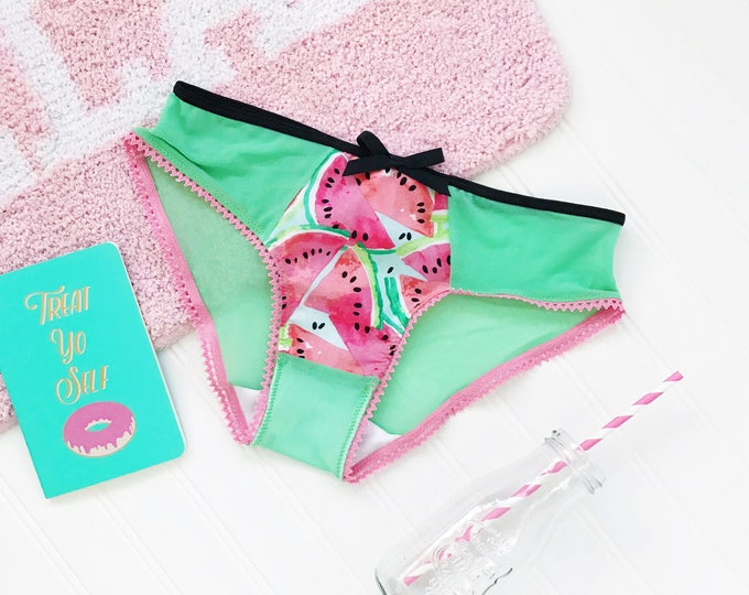 Featured listing image: Watermelon low rise panty underwear