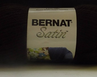 Bernat Satin Yarn ~ Colour # 04013 Mocha ~ 100 Grams ~ 200 Yards