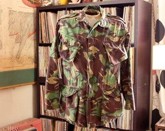 """vintage British combat smock camouflage jacket, UK camo anorak size 180-104 / US 40"""" 42"""""""