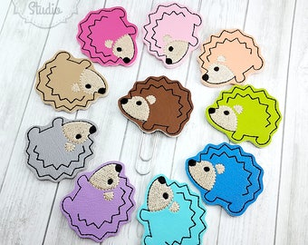 Hedgehog Planner Clip - Paperclip - Bookmark - Woodland Animal - Pick your color!