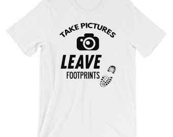 Take Pictures Leave Footprints T-shirt Photographer Tee