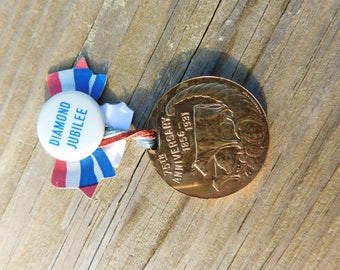 Antique Gold Medal Orleans County Fair Diamond Jubilee 1856-1931 dr 34