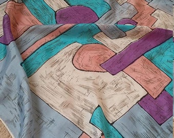 Vintage 50s scarf..dramatic abstract design...cute and authentic!Very retro!