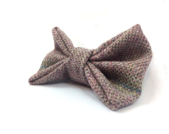 Luxury Hair Bow for Humans - Heather Tweed