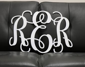 Large Metal Monogram Sign | Custom Metal Monogram Sign | Wall Hanging  | Weddings | Photo Props | Painted | Nursery | Graduation Gift