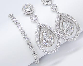Minimalist Bezel Cubic Zirconia Tennis Bracelet Glam Chic Cocktail Jewelry Best Gifts For Her