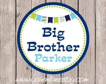 Printable Personalized Big Brother Iron On Tshirt Transfer Design.  Sibling Iron On Transfer. Big Brother Transfer.  Big Brother Shirt.