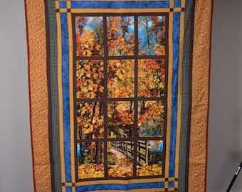 Fall Quilted Wall or Lap Quilt
