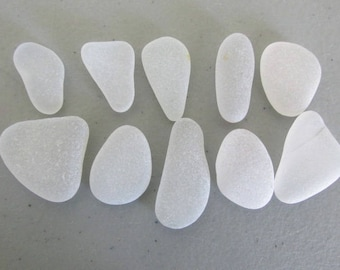 Vintage Beach Glass, Seaglass, Jewelry Lot, White Seaglass Bulk, Art Craft Supply, Jewelry Supply