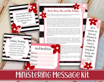 Ministering Message Kit | Relief society Message Digital Printable LDS VT handout