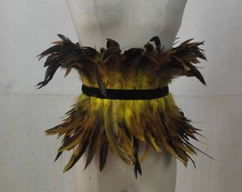 Carnival Rooster coqu feather belt  #BLT17022