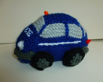 Knitted police car