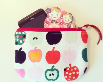 Cell Phone case many many mOre padded zipper Pouch with Apple