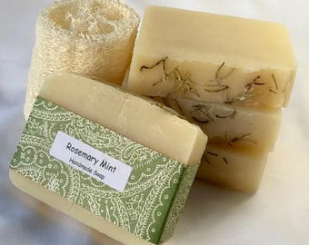 rosemary mint soap / natural soap / essential oil soap / handmade soap / moisturizing soap / Halifax / artisan soap / vegan soap