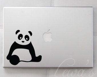 Panda Small Laptop / Macbook / Notebook Computer Decal