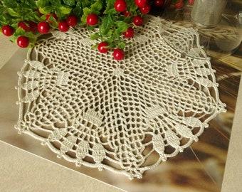 Crochet doily Cream lace doily Crochet doilies centerpiece 430