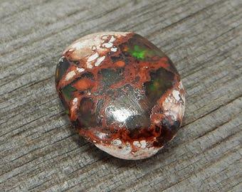Mexican Opal Cabochon - De-Stash Stone Sale - 26mm x 13mm, Jewelry Making Supplies, Cab, Gem, Gemstone