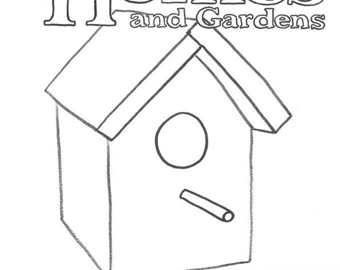 Birdy Homes and Gardens colouring book by Kenny Pittock