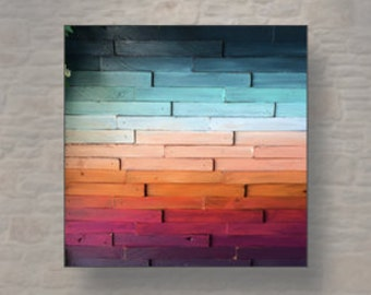 Ombre Sunset Abstract Painting