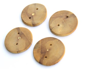 Ash buttons -  2 inch  -  4 pieces
