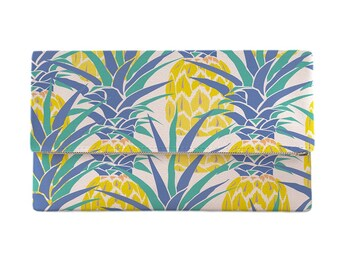 Pineapple Isle Clutch, Tropical Clutch, Island Clutch, Hawaiian Print Clutch Bag