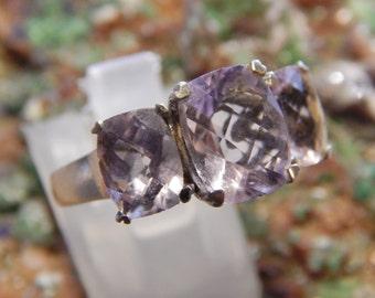 Amethyst Purple Sterling Silver Ring