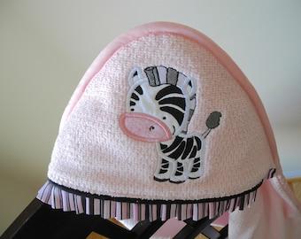 zebra towel personalized jungle safari theme many colors