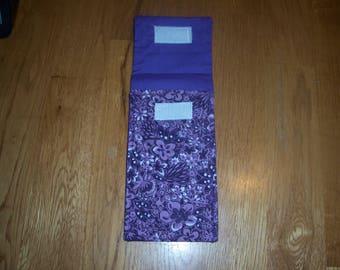 Purple Flowered Tampon Case