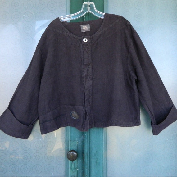 Blue Fish Artwear Cropped Jacket -OS- Brown/Plum Hemp