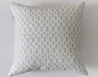 Tan and Cream Printed Pillow Cover