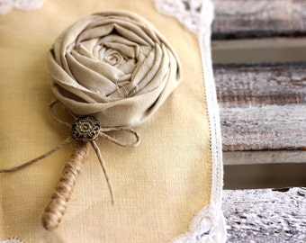 Wedding Boutonniere, men buttonhole, grooms brooch, wedding accesories