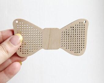 Bow Cross stitch pendant blank - blanks Wood Needlecraft Pendant, Necklace or Earrings - wooden cross stitch blank BOW-ODV3-100 mm