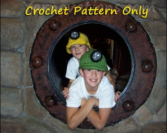 Hard Hat Crochet Pattern with Mining Set
