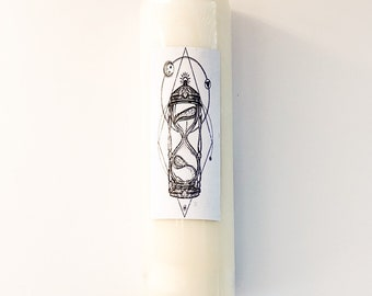 Sacred Time Hourglass Intention Candle